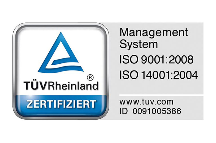 Zertifiziert nach DinISO 9001